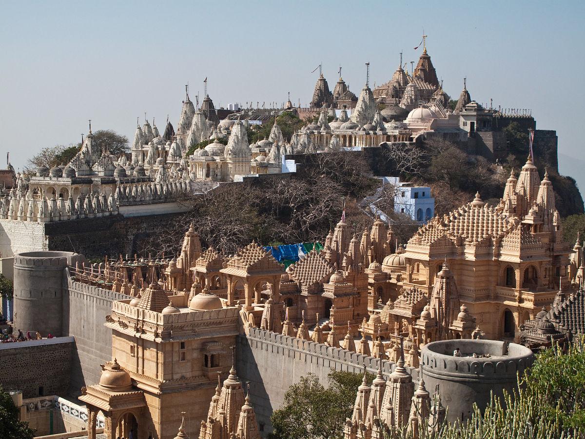 古吉拉特邦,巴利塔纳圣山,宗教,印度文化,风景,耆那教,彩色图片,建筑图片