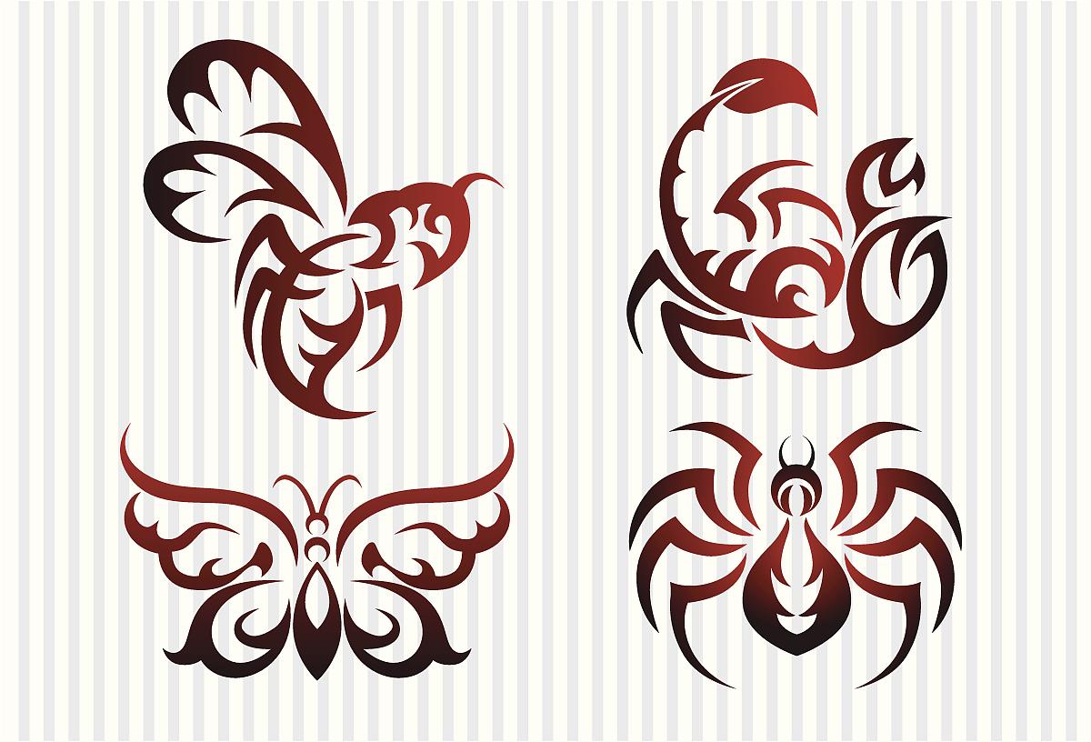 昆虫的纹身图案图片