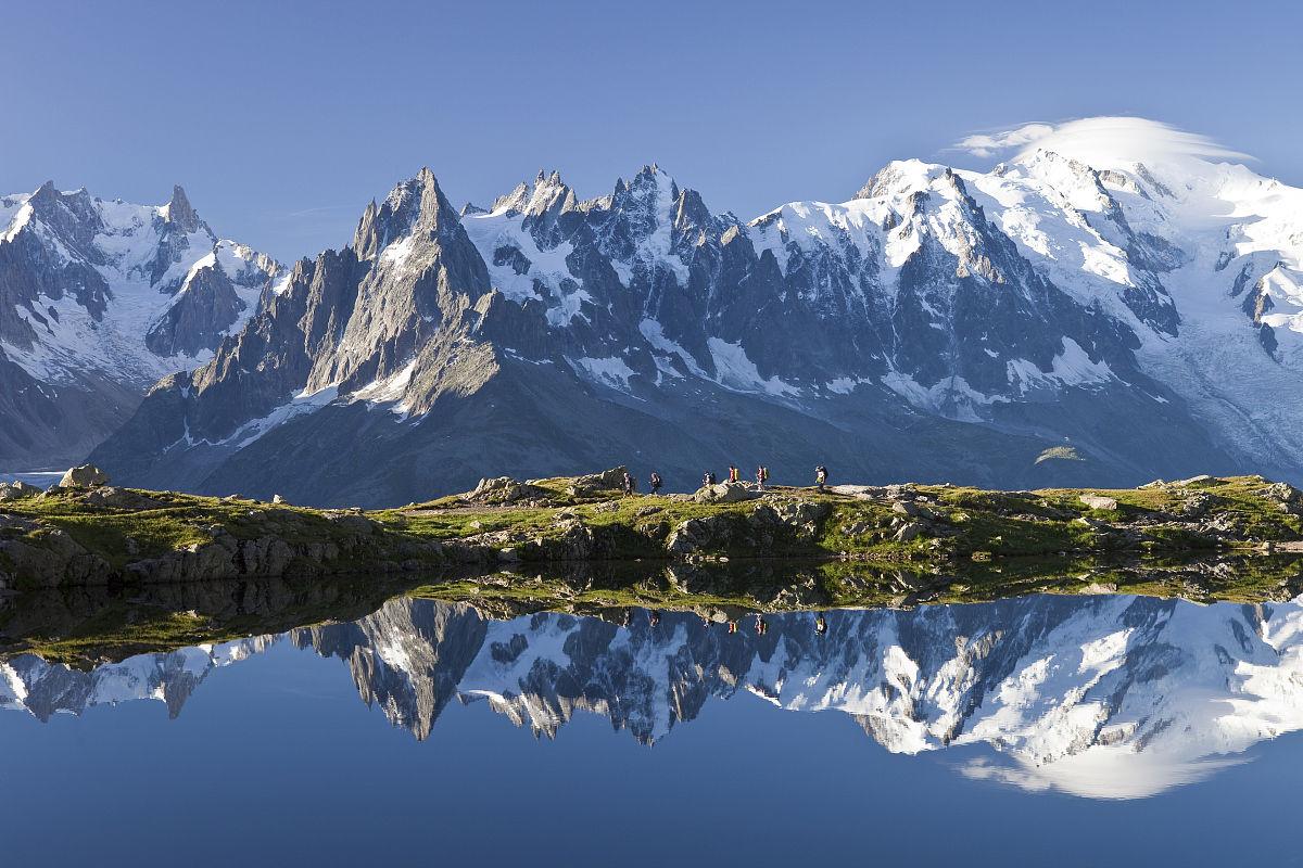 �~��M�_法国,上savoie,chamonix mont blanc,lac des cheserys区内自然国营红