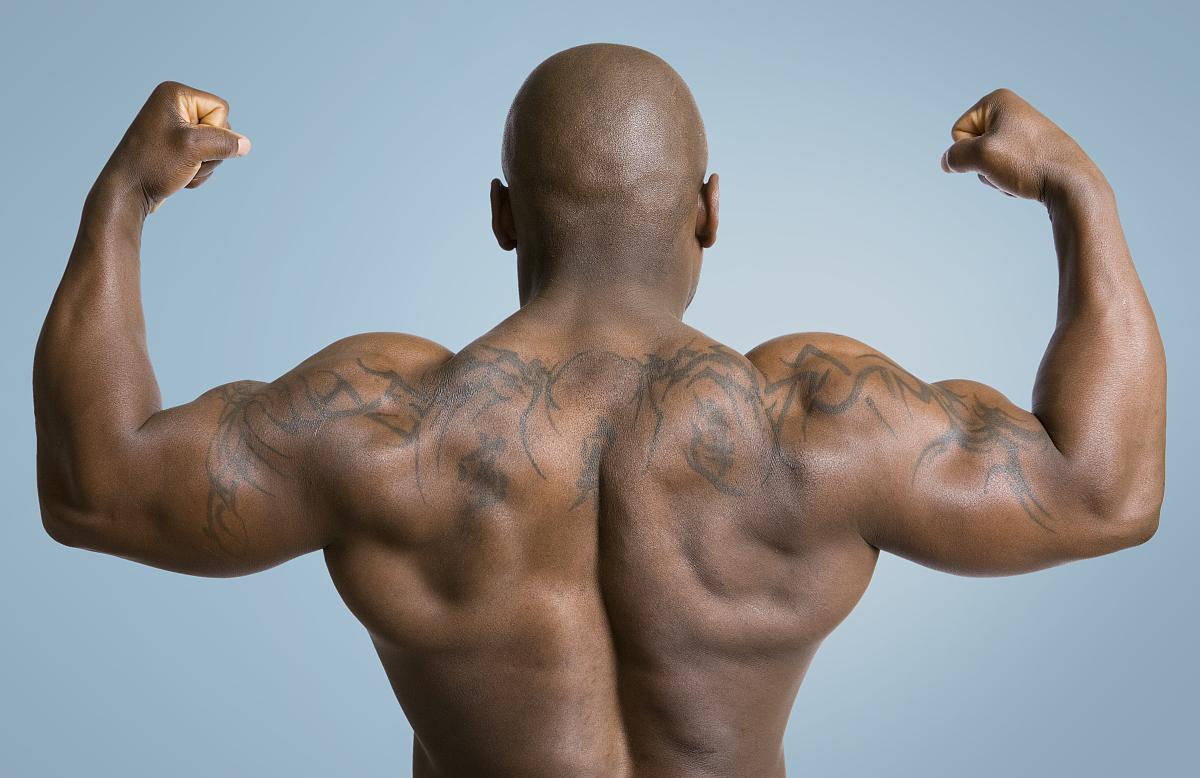 肌肉_美国黑人男性的肌肉