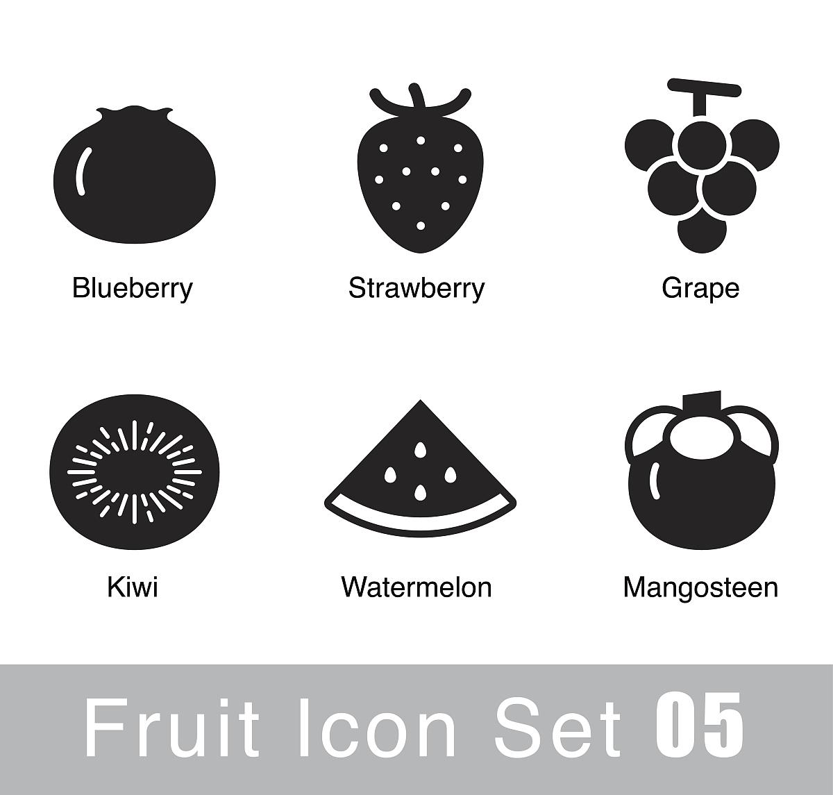 水果平面图标设计图片