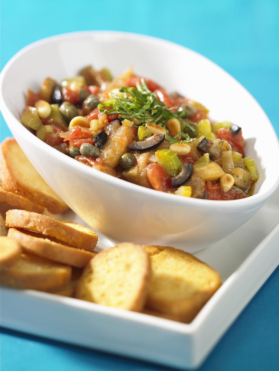 茄子沙拉(酸甜可口的素菜,意大利)图片