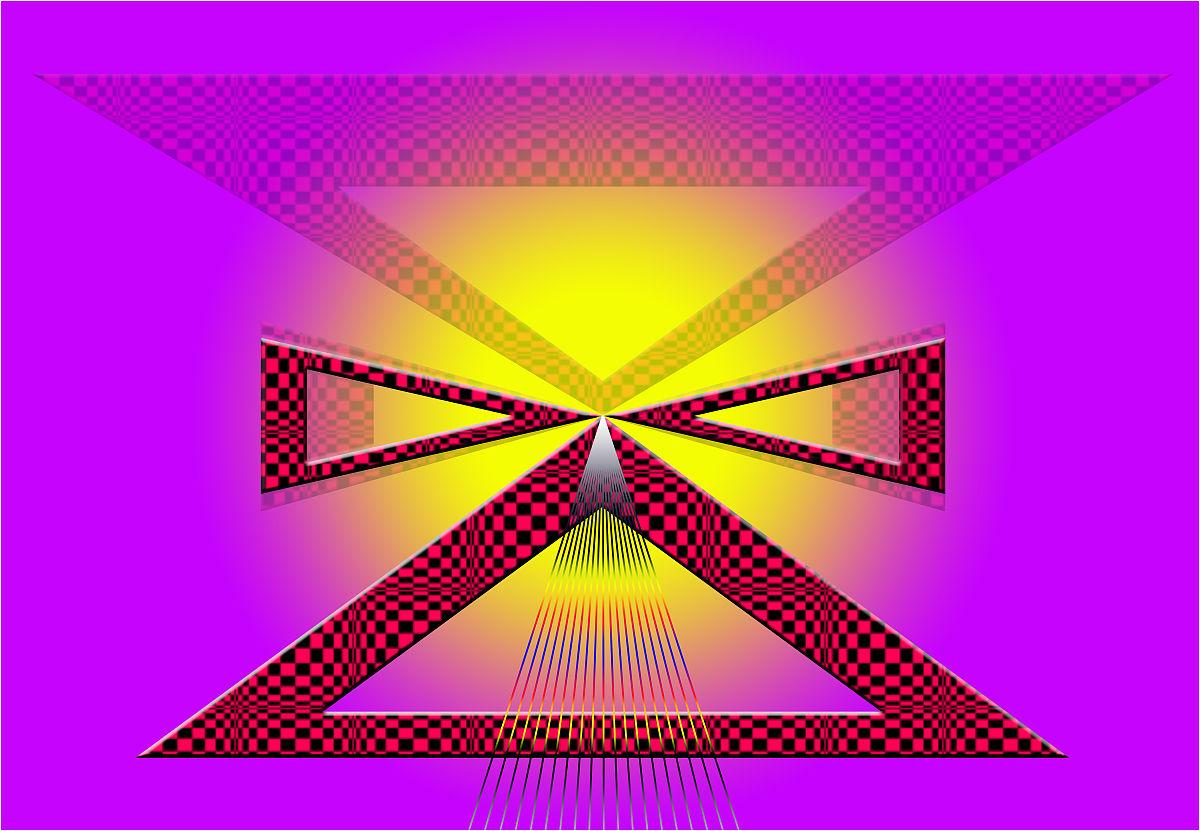 格子三角形图形创意设计图片