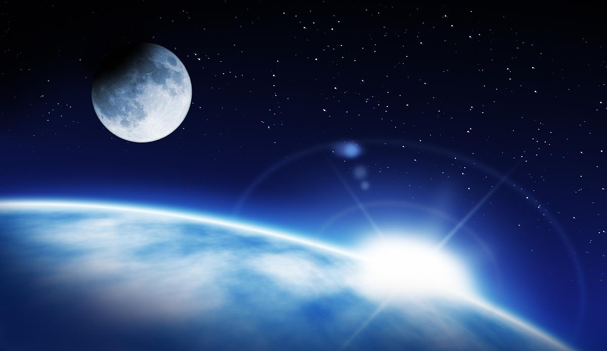 星形,天空,太空,光,太阳,月亮,云,行星,星星,地平线,黎明,日出,夜晚图片