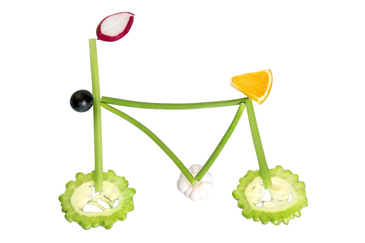 彩色图片,白色背景,背景分离,蔬菜,清新,苦瓜,葡萄,萝卜,大蒜,自行车图片