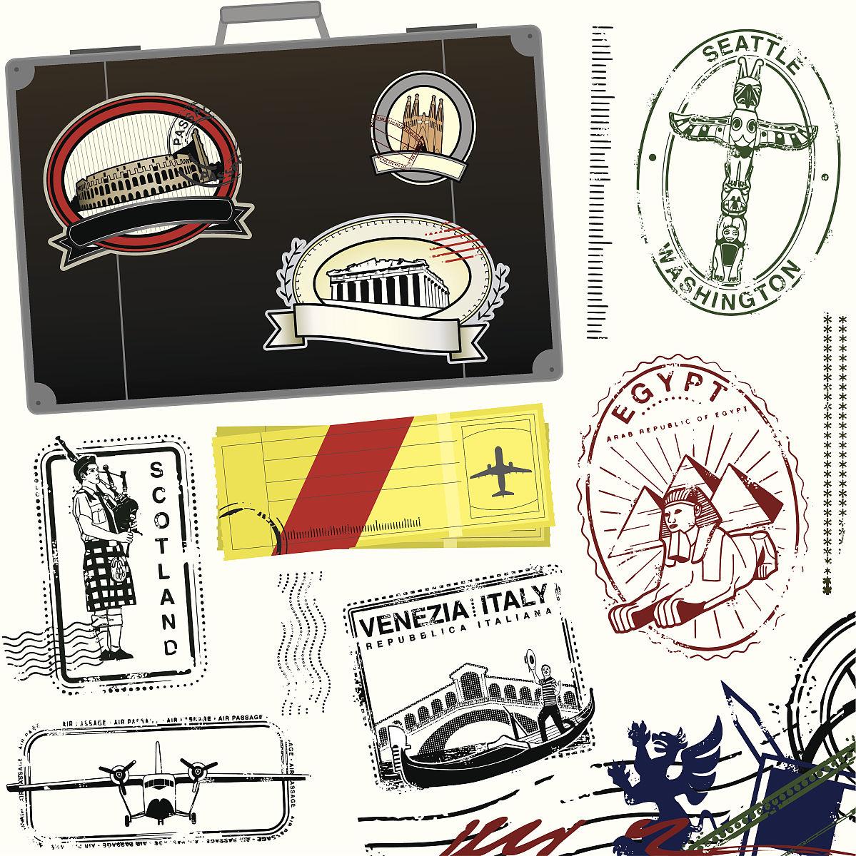 古老的旅游券图片