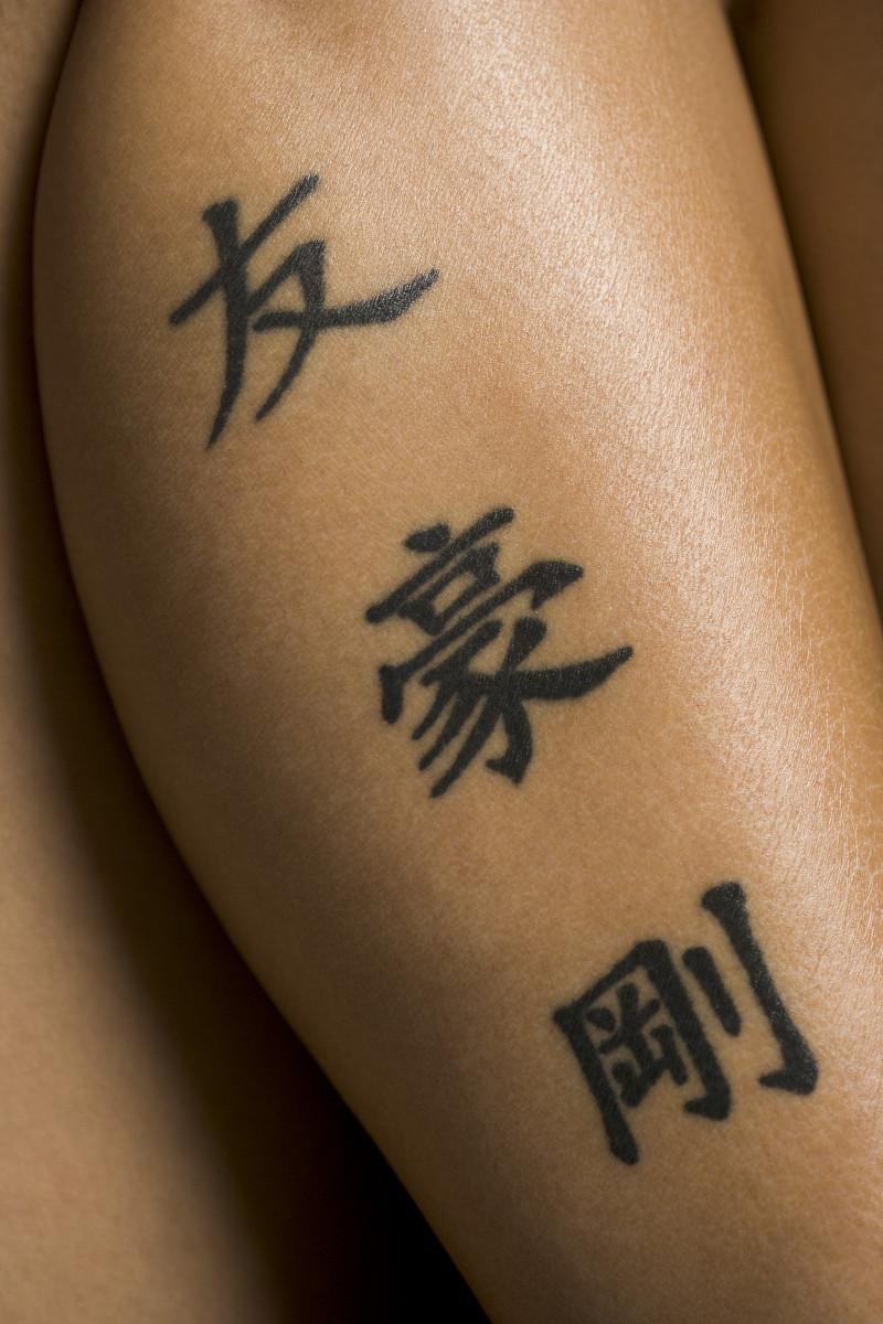 大腿正脸龙纹身分享展示图片