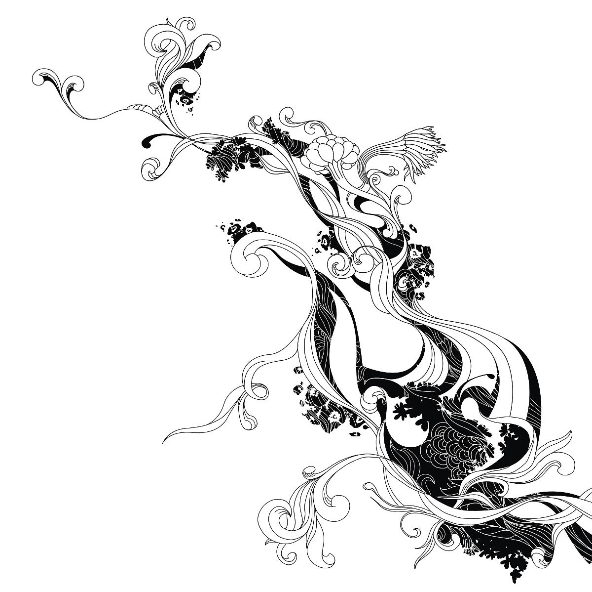 纹身图案 花纹身手稿黑白 > ▼ ┊打印 ┊举报 已投稿到:  ▼ ┊打印图片