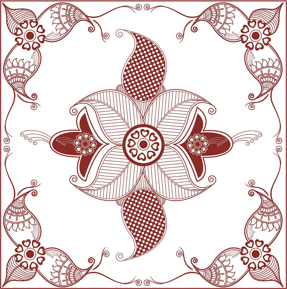 传统,线条,马勒,散沫花染人体彩绘,计划书,纹身,仅一朵花,文化,军乐图图片
