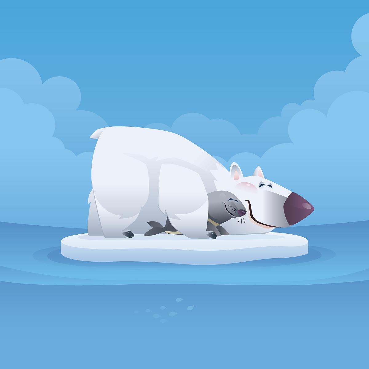 北极熊,真皮,绘画数码,臀部,图形动物,动画片,插图,a真皮,v真皮,睡觉凉鞋王卡通女蜘蛛靴图片
