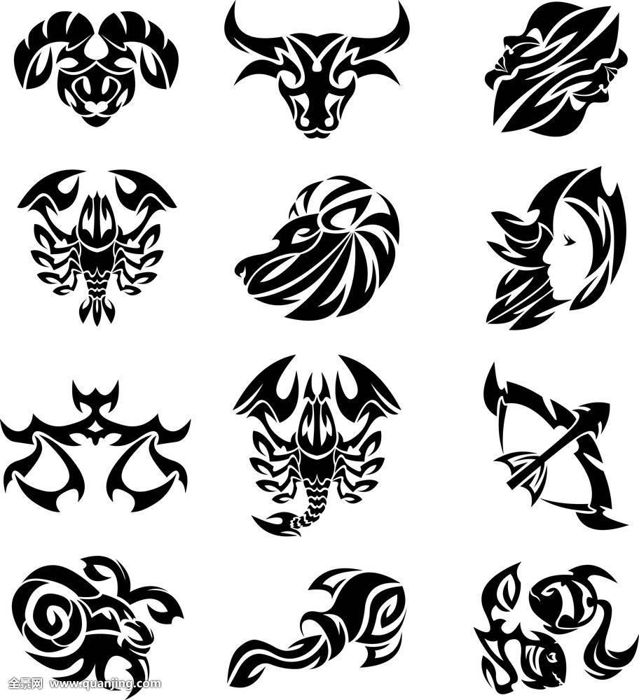 占星术,水瓶座,白羊座,巨蟹座,摩羯座,双子座,狮子座,天平座,双鱼座图片