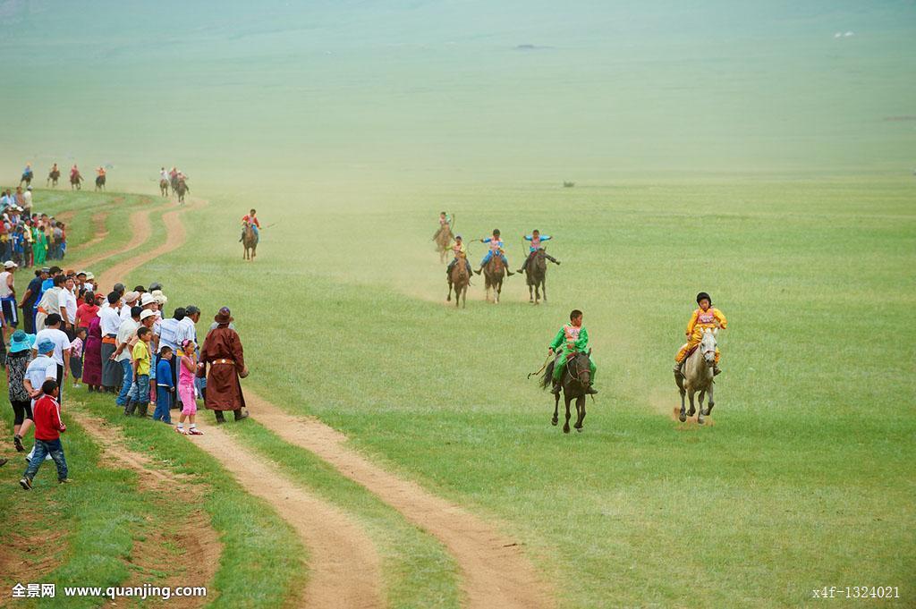 亚洲孩子彩色照片白天节日马蒙古省比赛旅行世界各地
