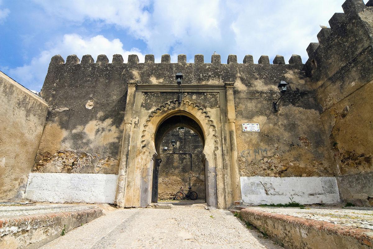 古城建筑物门彩色图片北非城堡无人摄影旅游旅行摩洛哥文化