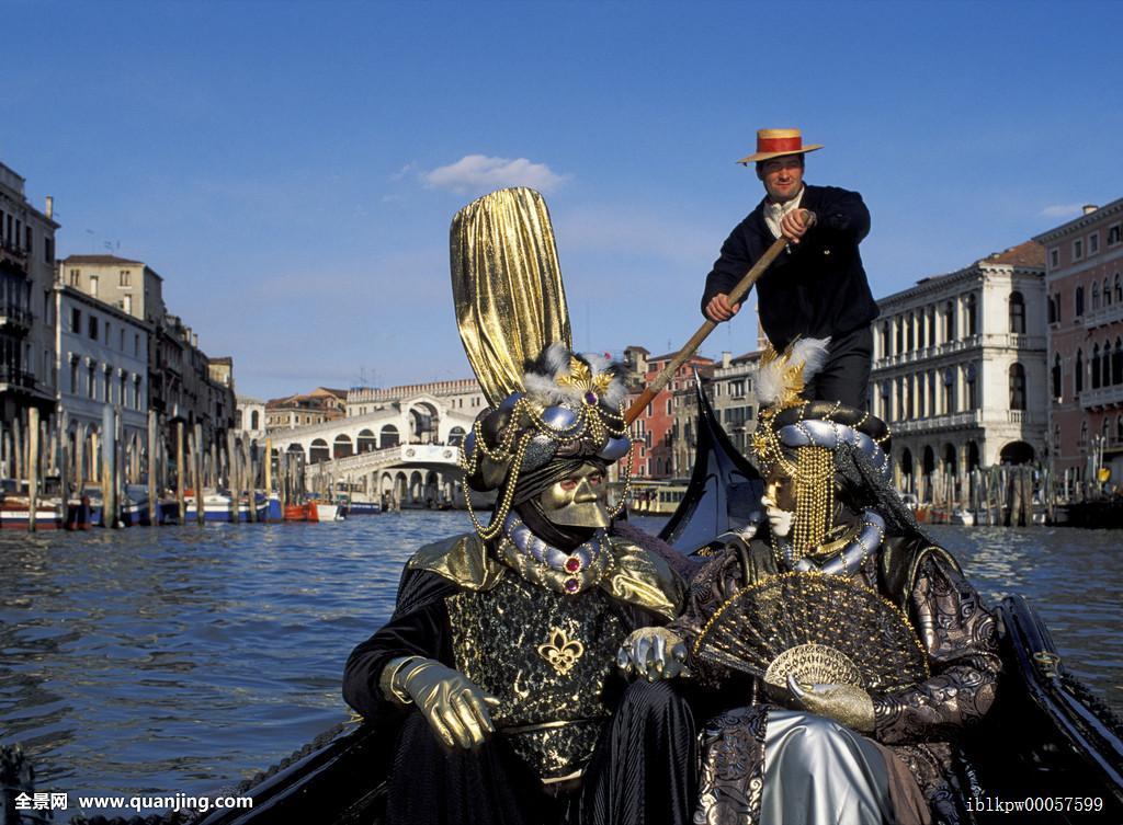 意大利�9��9櫺g�_两个,面具,小船,大运河,威尼斯,意大利