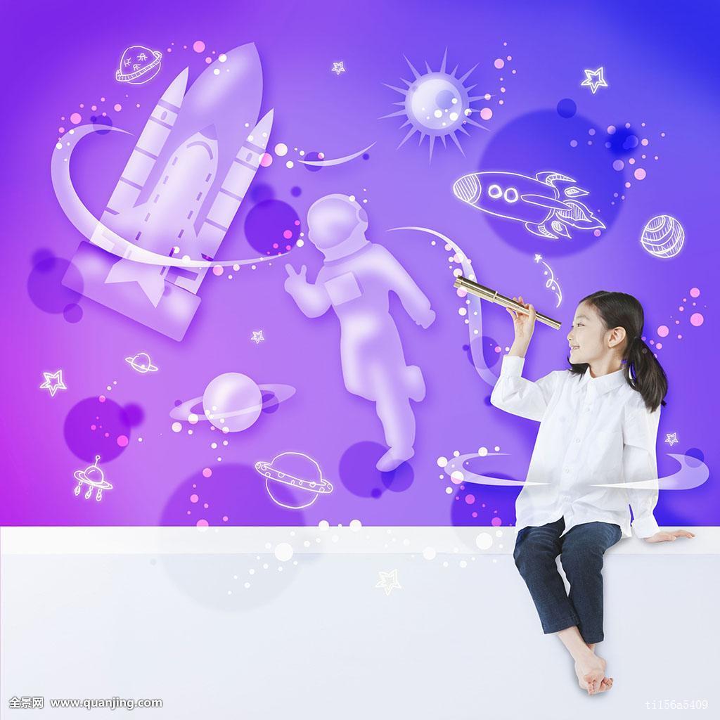 韩国人,亚洲人,人,孩子,梦想,希望,未来,8岁,种族,女性,女孩,一个人图片