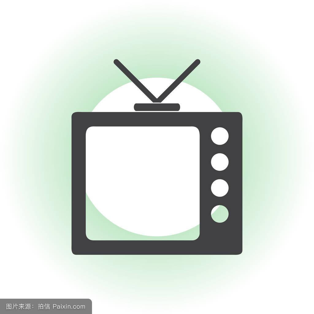 tv片_复古的,视觉的,设置,天线,电影,简单的,酿造的,看,插图,媒体,技术,tv