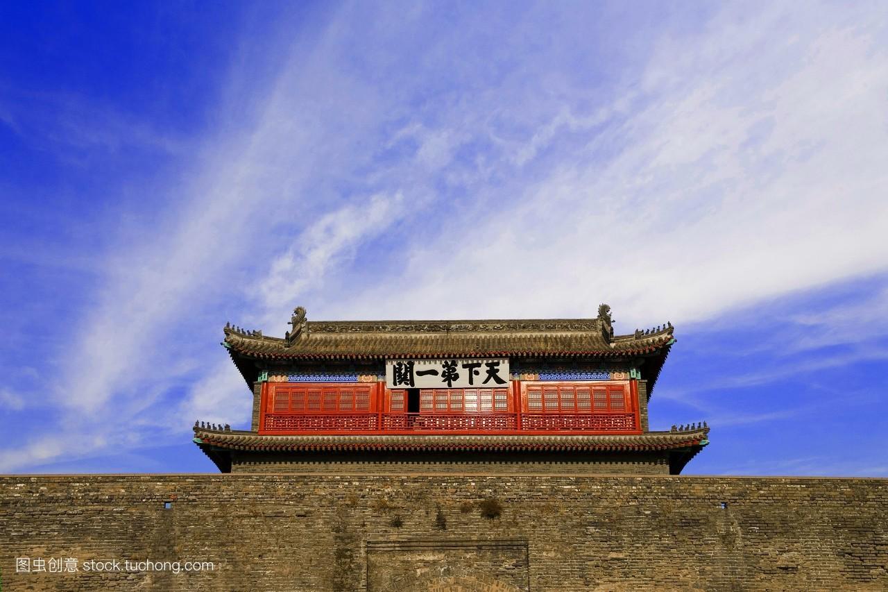 中国,长城,旅行,传统文化,风光旅游,亚洲,东亚,山海关,建筑外观,合成