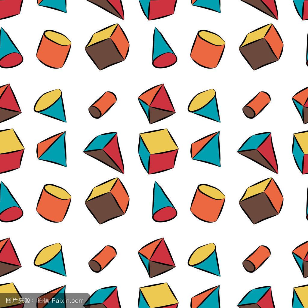 几何图形剪下来组成画分享展示图片