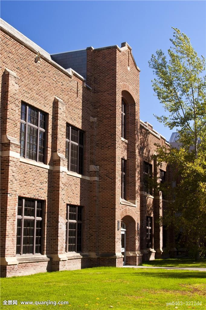 建筑,建筑风格,户外,教育,现代,砖,大学,教育机构,校园,红色,学校图片