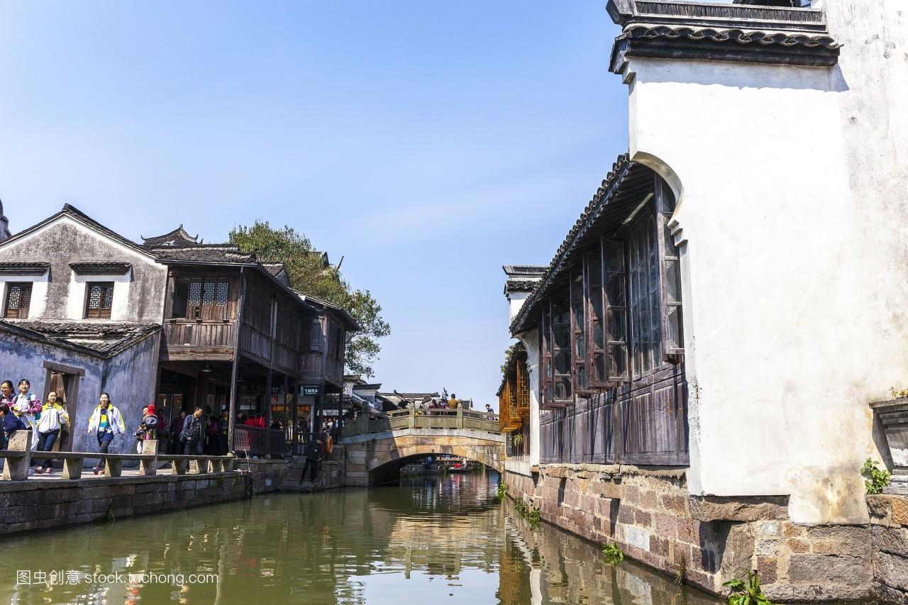 复古,狭窄,古老,轻松,河流,悠闲,木舟,中国元素,精致,破旧,木房子图片