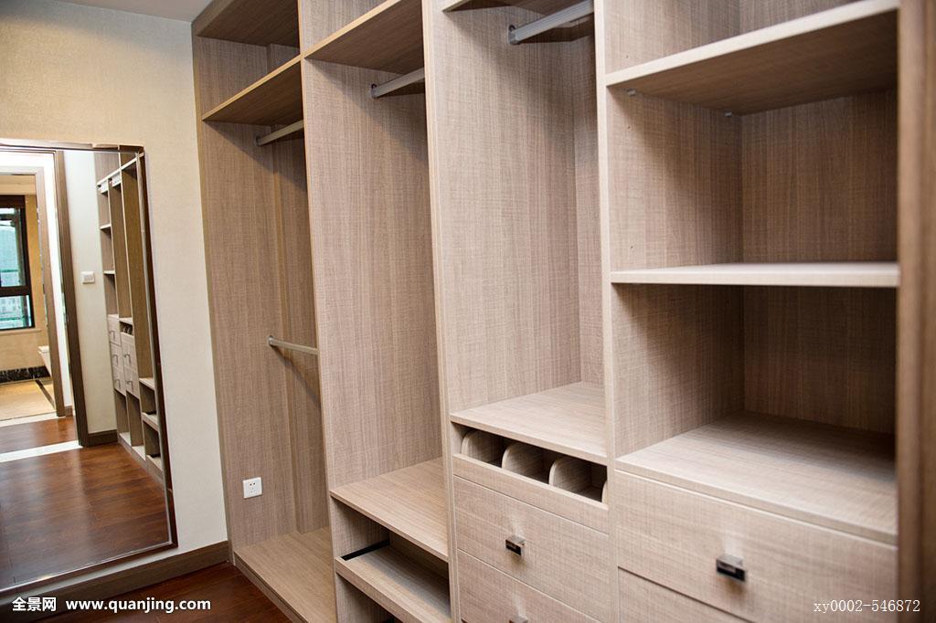 现代,公寓内部,空,衣柜图片
