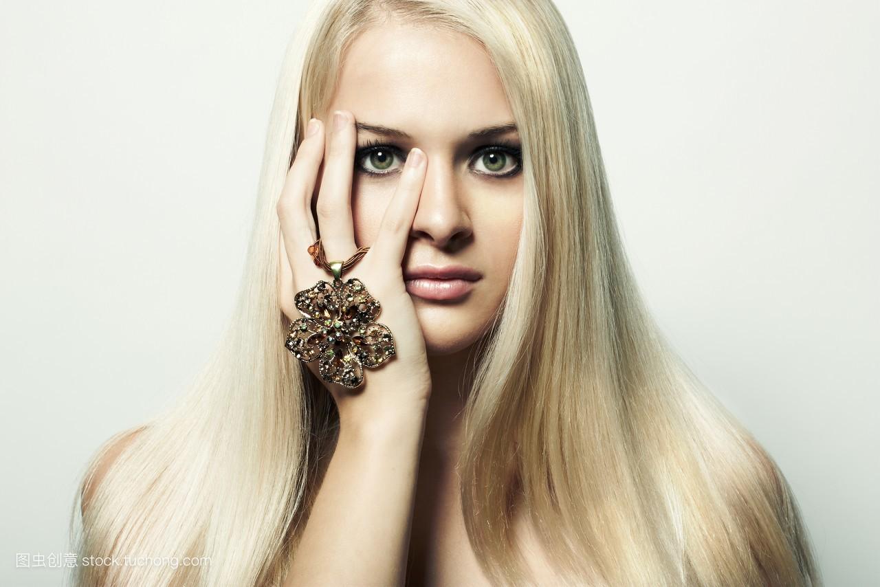 诱人,人物近照,金发,二十多岁,优雅,人像,可爱,发型,人体模特,唯美图片