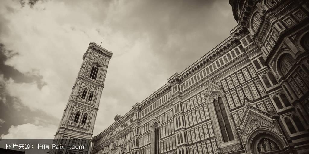菲奥里,钟楼,教堂,卡拉拉,塔,大教堂,城市的,意大利,建筑学,天主教的图片