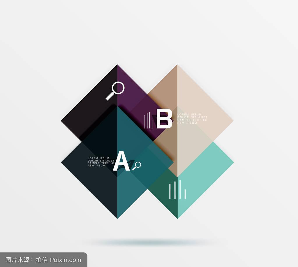 带文本的光滑正方形,抽象几何设计概念图片