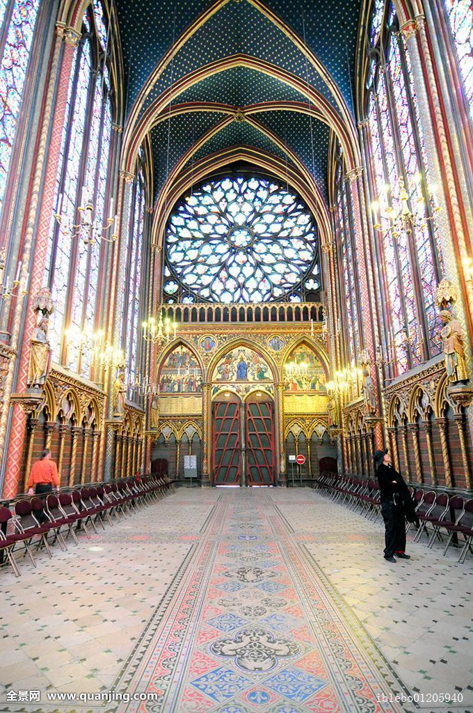 拱,建筑,小教堂,基督教,教堂,彩色,色彩,白天,设计,欧洲,法国,玻璃图片