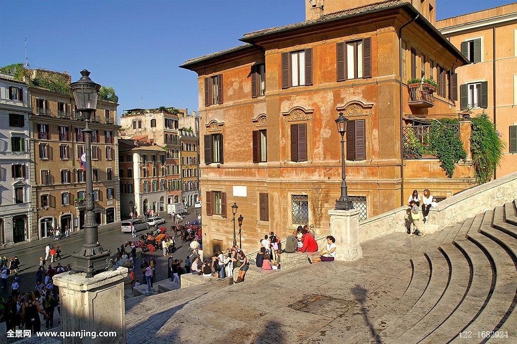 台階,西班牙廣場,羅馬,意大利
