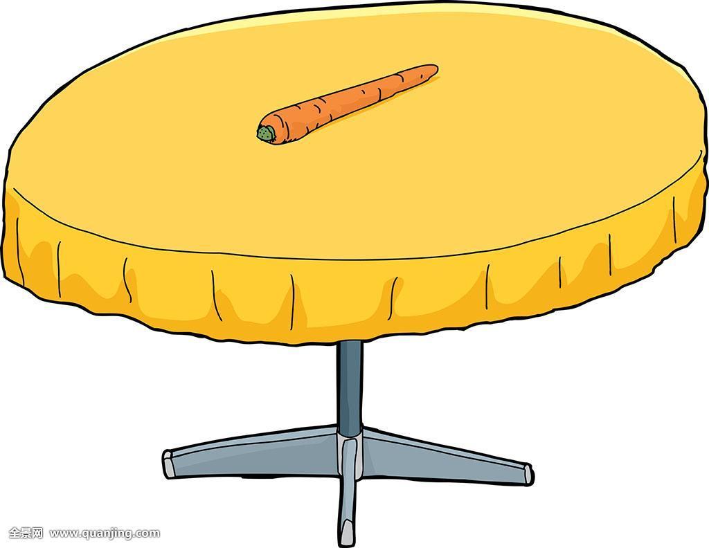家具,插画,蔬菜,诱饵,胡萝卜,无人,抠像,卡通,象征,圆形,激励,桌子图片
