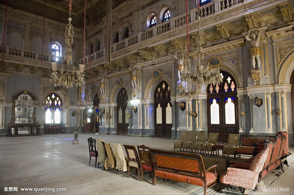 印度,古吉拉特,宫殿,大厅图片