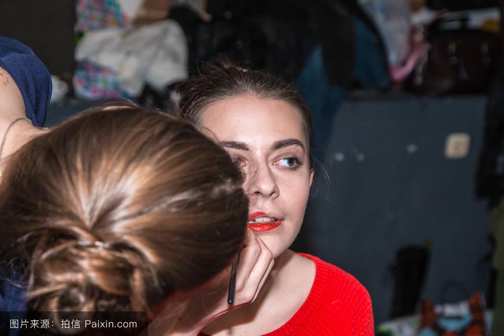 维阿德嘉,基洛夫,发型,女性的,艺术家,时装秀,专业的工作,女孩,理发师