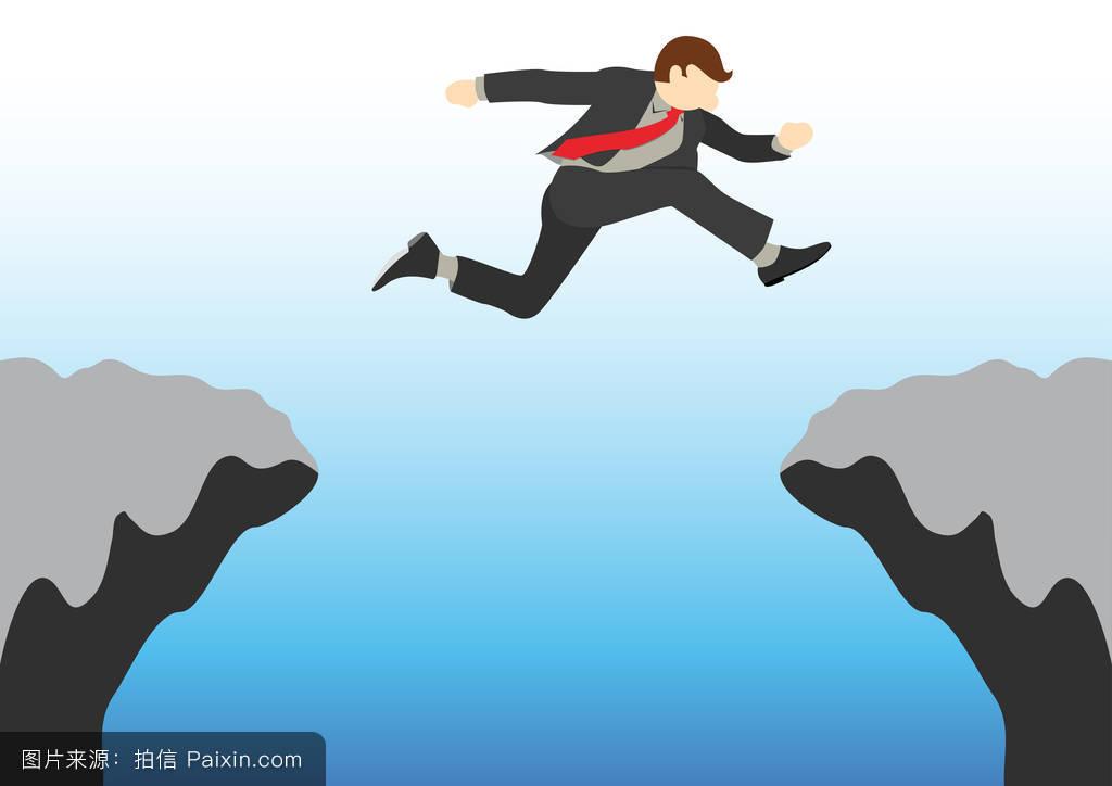 勇敢的��\_卡通,努力,悬崖,勇敢的,梦想,简单的,挑战,男人,祝愿,成功,危险,动机