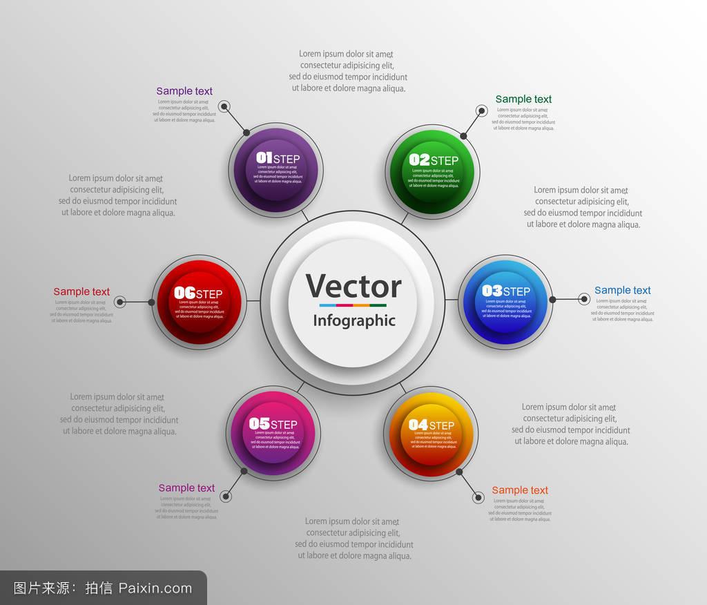 信息图表设计的模板,可用于工作流布局图,数的选择,网页设计.图片