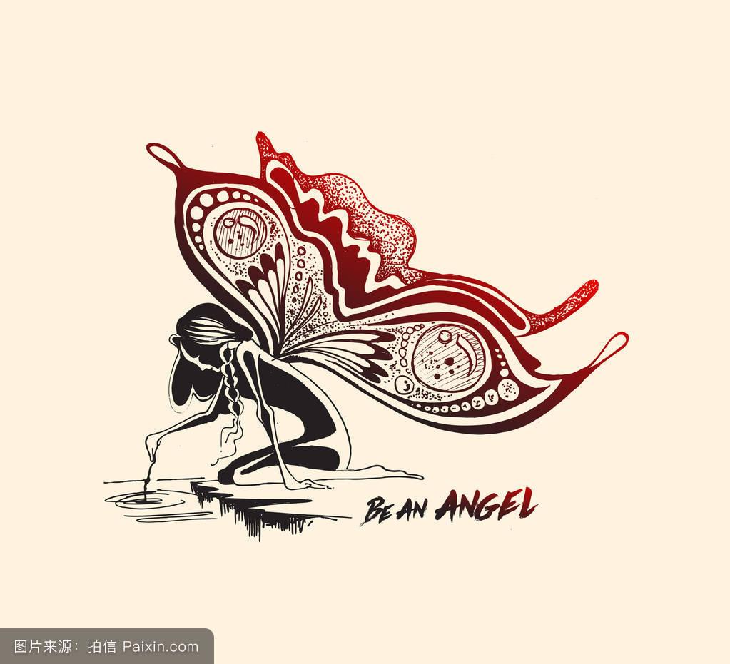 蝴蝶翅膀的天使图片