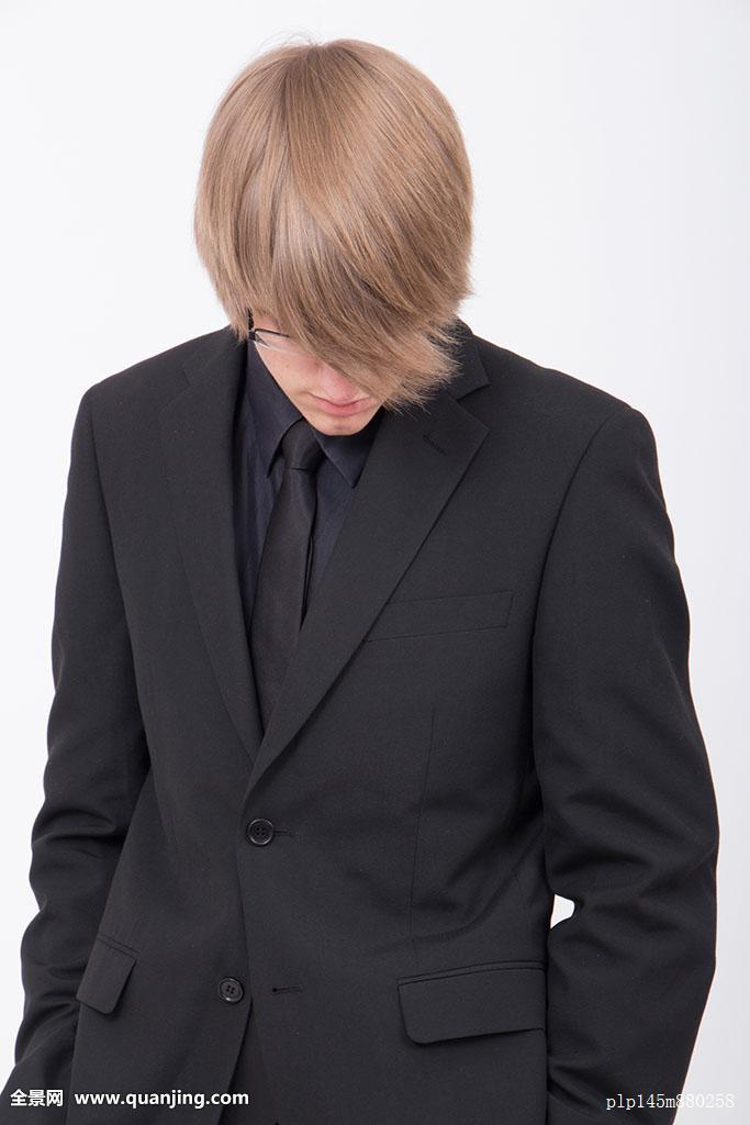 职业装,白人,优雅,晚礼服,正装,社交,悲伤,头发,插兜,头部,前倾,长发图片