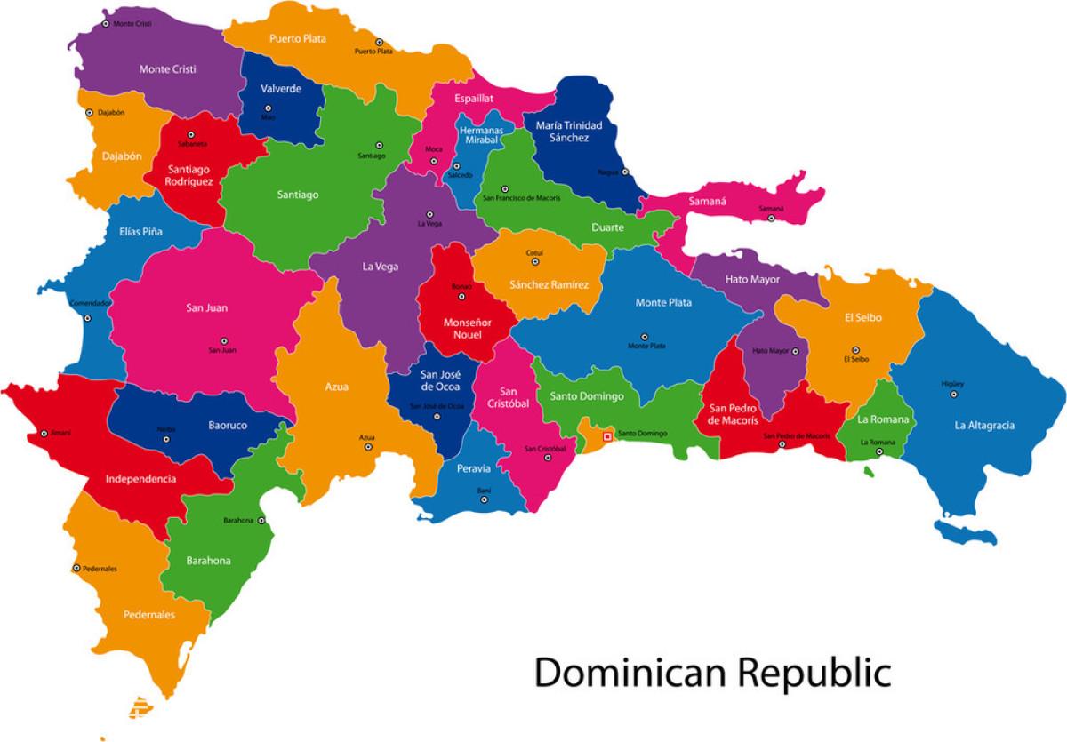 多米尼加共和国地图图片