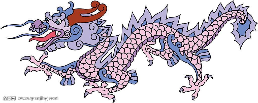 生肖节日迎春矢量图动物装饰品贴画美术工艺设计庆典龙纹图片