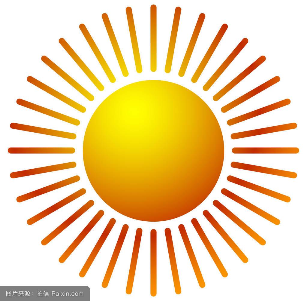 暖橙色渐变的太阳剪辑艺术.图片