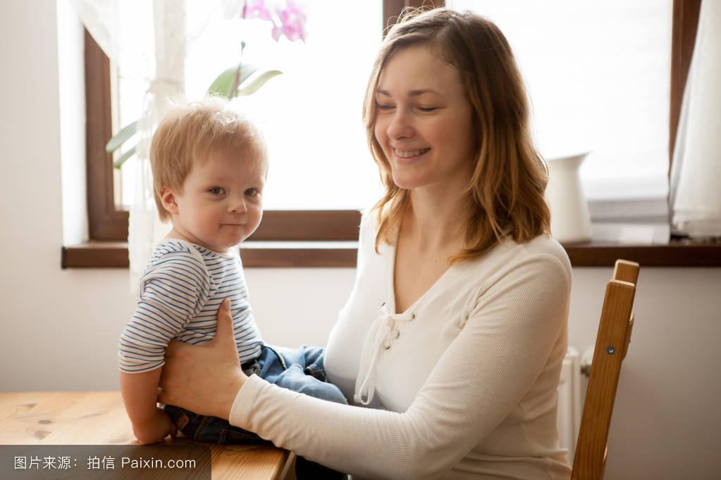 妈妈,成人,男孩,肖像,孩子们,在一起,乐趣,举办,起源,年轻的,母亲,小图片