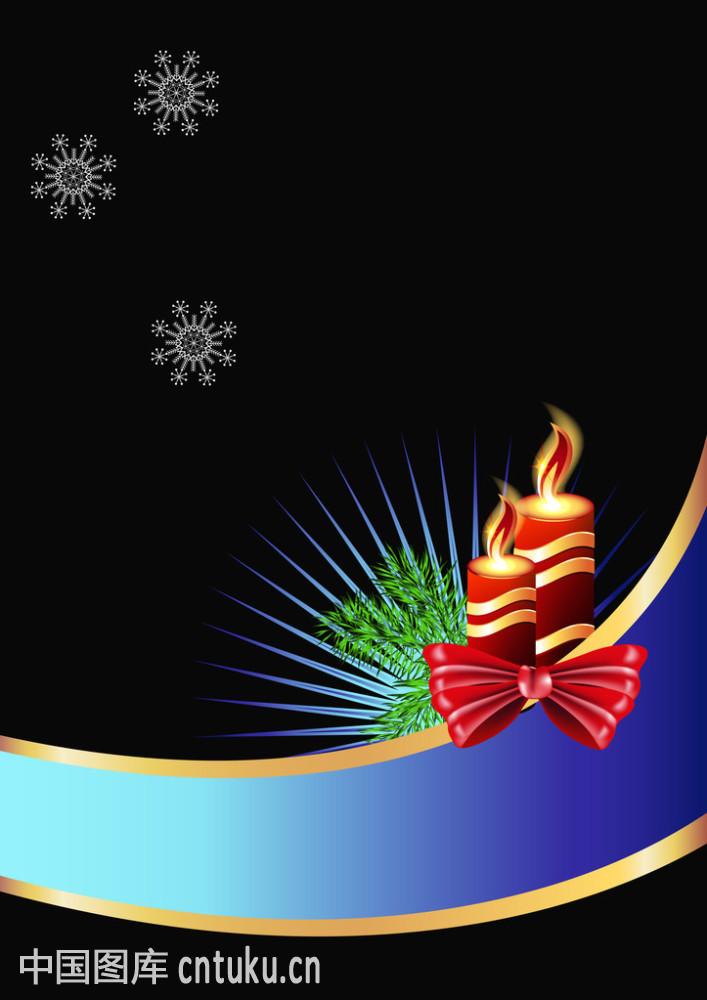 带有�z!�9�9il��'�i-9`�_带有燃烧蜡烛的圣诞贺卡