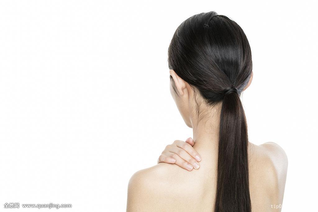 女性,一个人,少妇,清洁,马尾辫,发型,长发,头像,后面,直发,裸露,白色图片