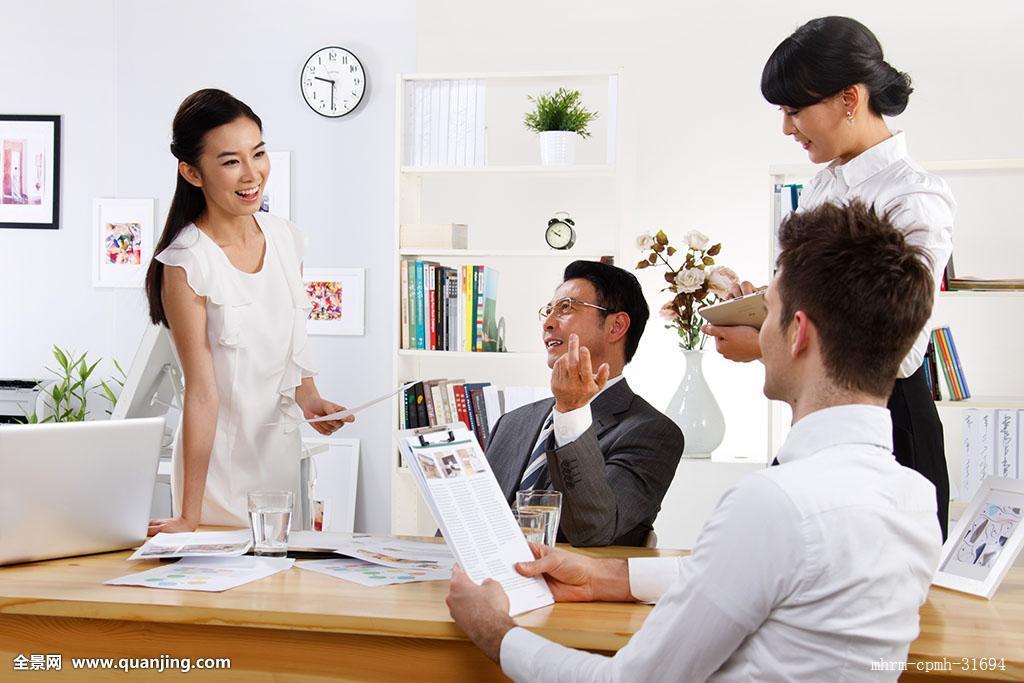 会议,服务,设计师,中国,幸福,四个人,合作,时尚,忙碌,坐着,办公室,站图片