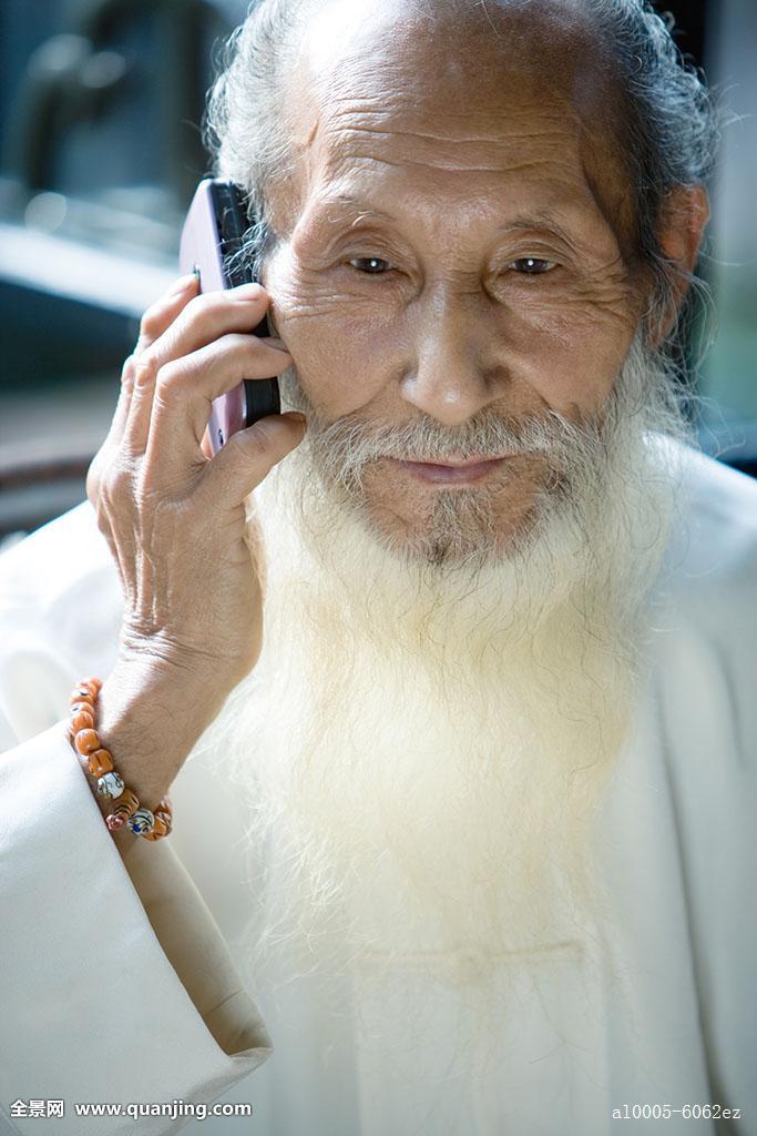 正面老人照片_室内,专注,老,听,看别处,中国人,皱纹,白发,胡须,局部,正面,彩色照片