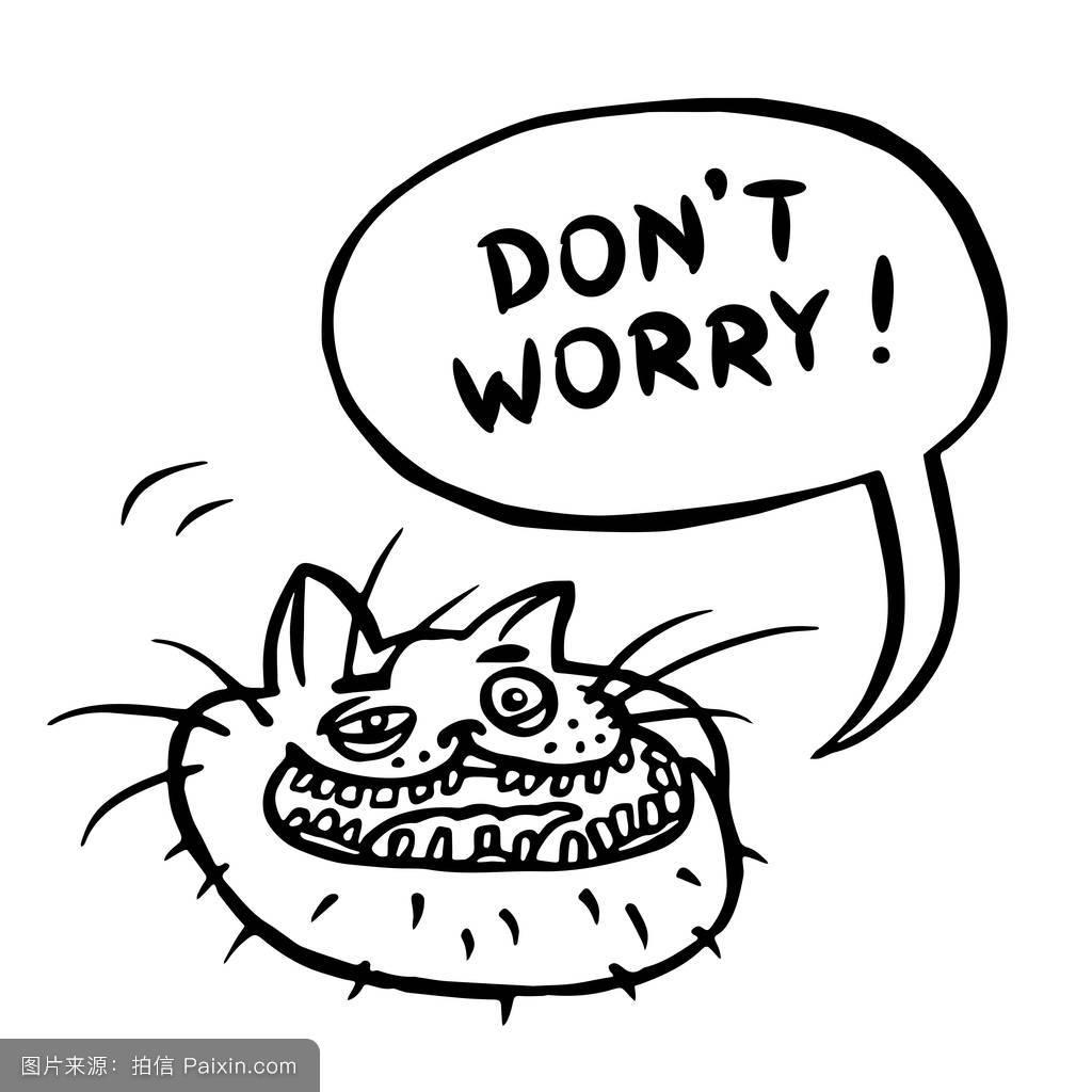 卡通说话猫性格情感的符号表情符号t恤面对明信片头通信图片