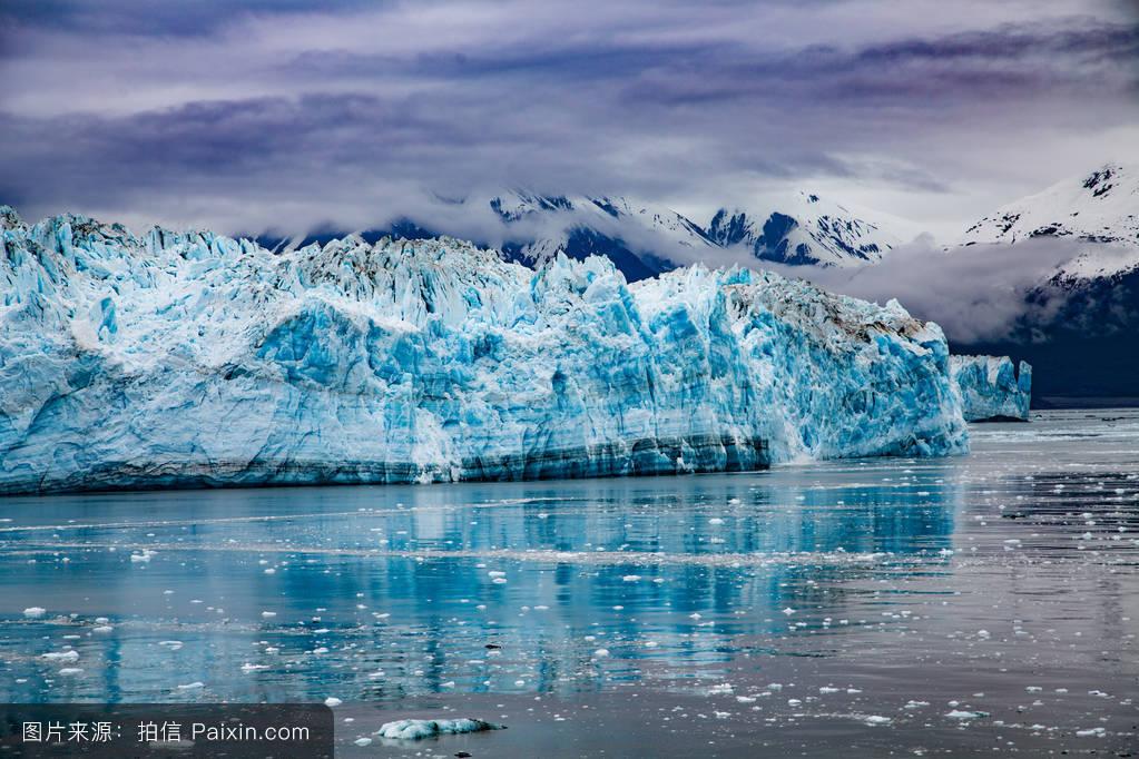 自然,改变,阿拉斯加,风景,哈伯德,冰川,水,寒冷的,西沃德,产犊,变暖图片