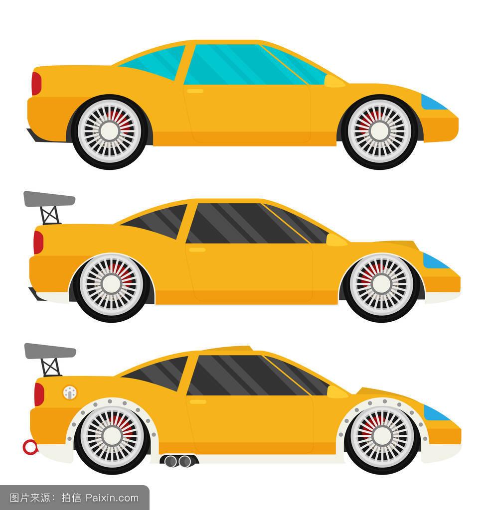flat racing car