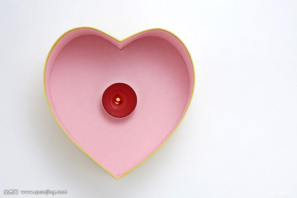 蜡烛,礼物,心形图片