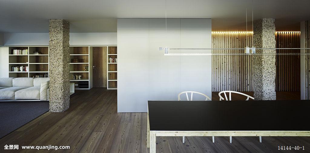现代,开放式格局,房间,加泰罗尼亚,阁楼,公寓,巴塞罗那,西班牙图片